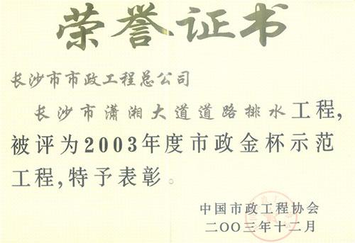 2003年度亚博体育官方网金杯示范yabo01